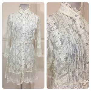 Passion Concept white lace top/jacket